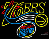 Miller Lite Rounded Philadelphia 7ers NBA Neon Sign  7