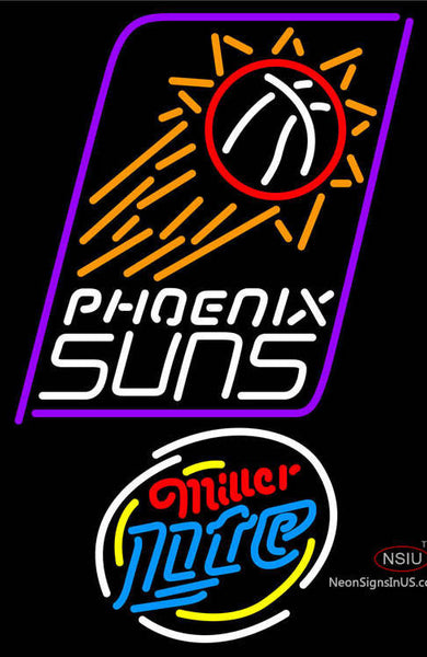 Miller Lite Rounded Phoenix Suns NBA Neon Sign  7