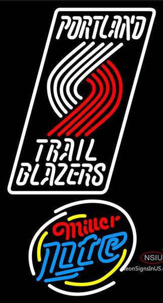 Miller Lite Rounded Portland Trail Blazers NBA Neon Sign  7