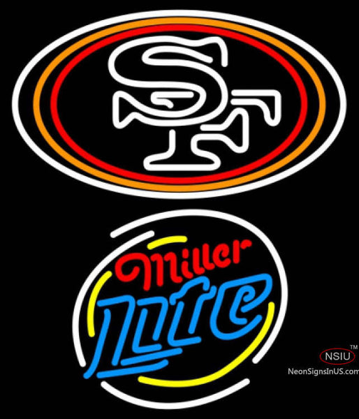 Miller Lite Rounded San Francisco ers NFL Neon Sign