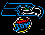 Miller Lite Rounded Seattle Seahawks NFL Neon Sign