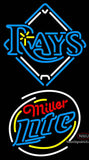 Miller Lite Rounded Tampa Bay Rays MLB Neon Sign