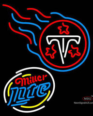 Miller Lite Rounded Tennessee Titans NFL Neon Sign