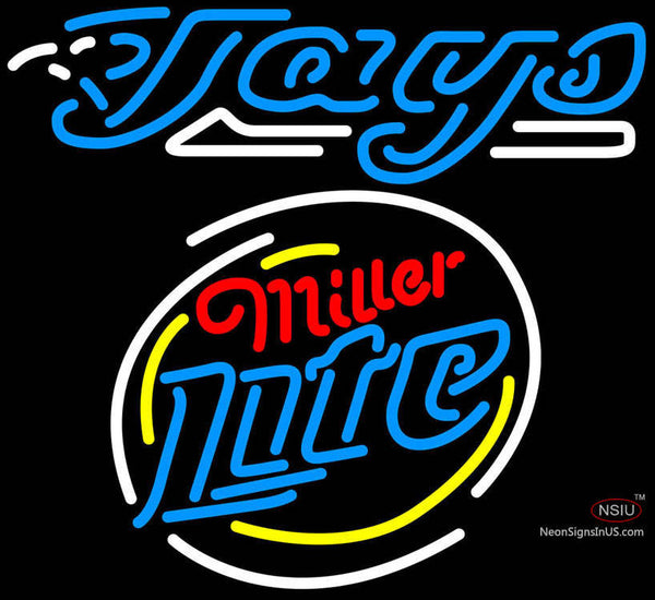 Miller Lite Rounded Toronto Blue Jays MLB Neon Sign