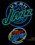 Miller Lite Rounded Utah Jazz NBA Neon Sign