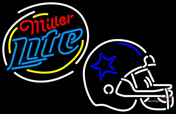 Miller Lite Rounded Dallas Cowboys Helmet