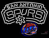 Miller Lite San Antonio Spurs NBA Neon Sign  7