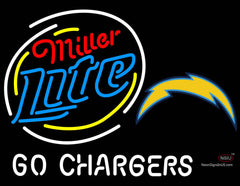 Miller Lite San Diego Chargers Neon