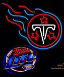Miller Lite Tennessee Titans NFL Neon Sign