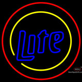 Miller Lite Two Sided Round Neon Beer Sign x