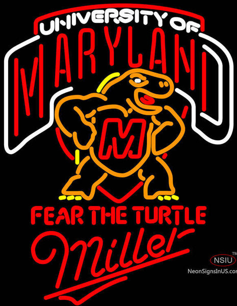 Miller Maryland Turtle Neon Sign