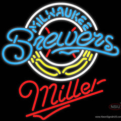 Miller Milwaukee Brewers MLB Real Neon Glass Tube Neon Sign