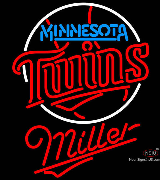 Miller Minnesota Twins MLB Neon Sign