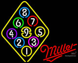 Miller Neon Ball Billiards Rack Pool Neon Beer Sign