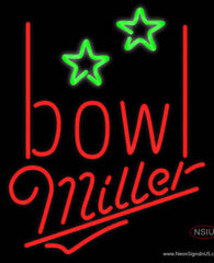 Miller Neon Bowling Alley Real Neon Glass Tube Neon Sign