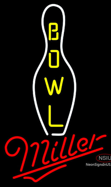 Miller Neon Bowling Neon Sign