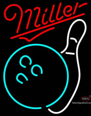Miller Neon Bowling Neon White Neon Sign