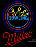 Miller Neon Bowling Neon Yellow Blue Sign