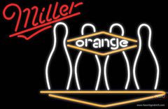 Miller Neon Bowling Orange Real Neon Glass Tube Neon Sign
