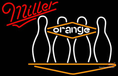 Miller Neon Bowling Orange Neon Sign