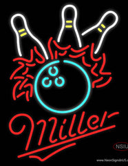 Miller Neon Bowling Pool Real Neon Glass Tube Neon Sign
