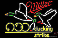 Miller Neon Bowling Sucking Strike Real Neon Glass Tube Neon Sign