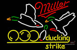 Miller Neon Bowling Sucking Strike Neon Sign