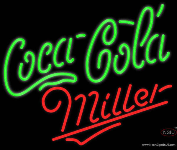 Miller Neon Coca Cola Green Neon Sign