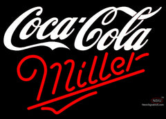 Miller Neon Coca Cola White Neon Sign