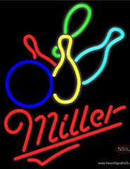 Miller Neon Colored Bowling Real Neon Glass Tube Neon Sign
