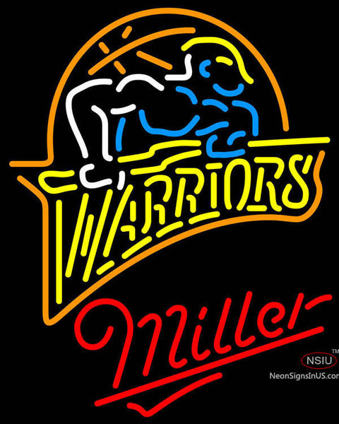 Miller Neon Golden St Warriors NBA Neon Sign