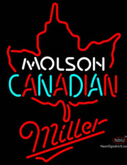 Miller Neon Molson Leaf Hockey Neon Sign