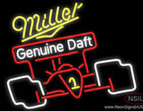 Miller Race Car Neon Beer Sign