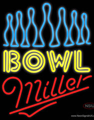 Miller Neon Ten Pin Bowling Real Neon Glass Tube Neon Sign