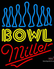Miller Neon Ten Pin Bowling Neon Sign