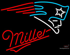 Miller New England Patriots NFL Neon Sign
