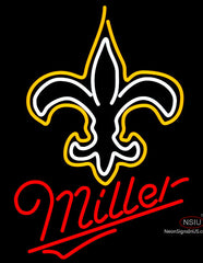Miller New Orleans Saints NFL Neon Sign