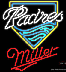 Miller San Diego Padres MLB Real Neon Glass Tube Neon Sign