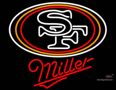 Miller San Francisco ers NFL Neon Sign