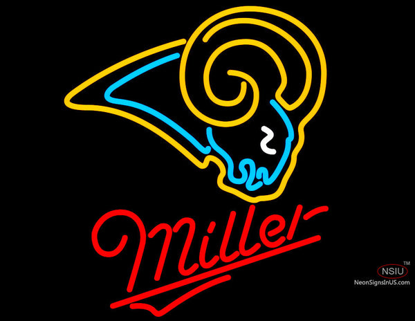 Miller St. Louis Rams NFL Neon Sign