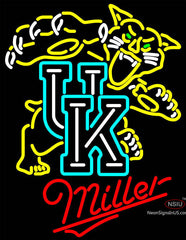 Miller UK Kentucky Wildcats Logo Neon Sign NCAA