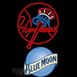 blue moon new york yankees mlb beer neon sign