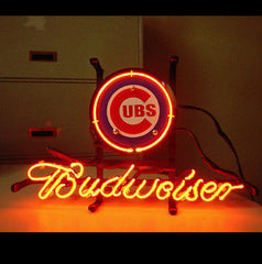 Mlb Chicago Cubs Baseball Budweiser Beer Bar Neon Light Sign