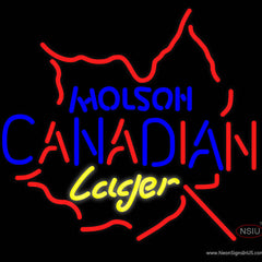Molson Canadian Maple Leaf Neon Beer Sign