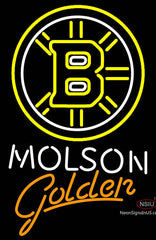 Molson Golden With Boston Bruins Neon Sign