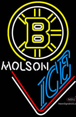 Molson Ice With Boston Bruins Neon Sign