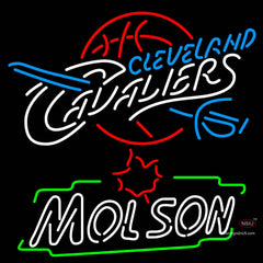Molson Cleveland Caveliers NBA Neon Beer Sign