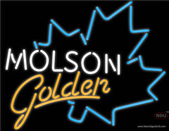 Molson Golden Blue Maple Leaf Neon Beer Sign