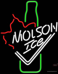 Molson Ice Bottle Neon Beer Sign
