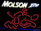Molson Ice Goalie Neon Beer Sign